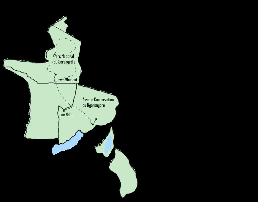 Carte Safari Lac Ndutu
