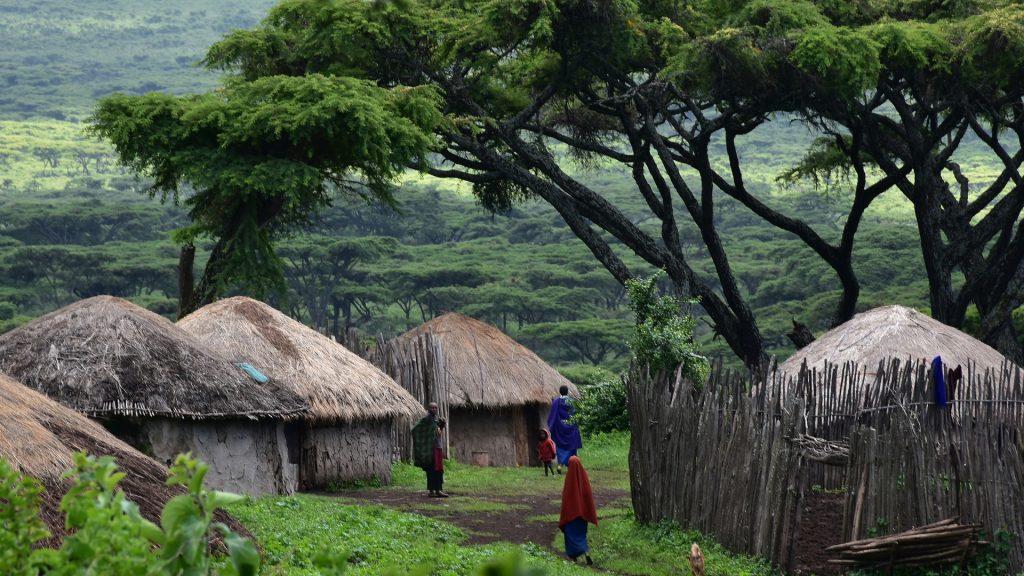 Village Maasai en Tanzanie